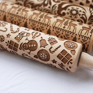 Christmas Snowman Moose Rolling Pin