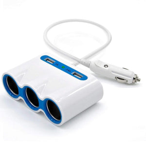 Car cigarette lighter one for three with USB one minute three car power, charger, distributor