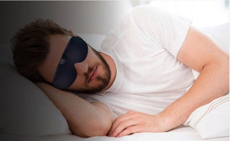 Smart prevention of snoring eye mask