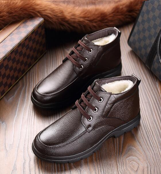 [2019 WINTER SPECIAL] Man Wool Leather Shoes