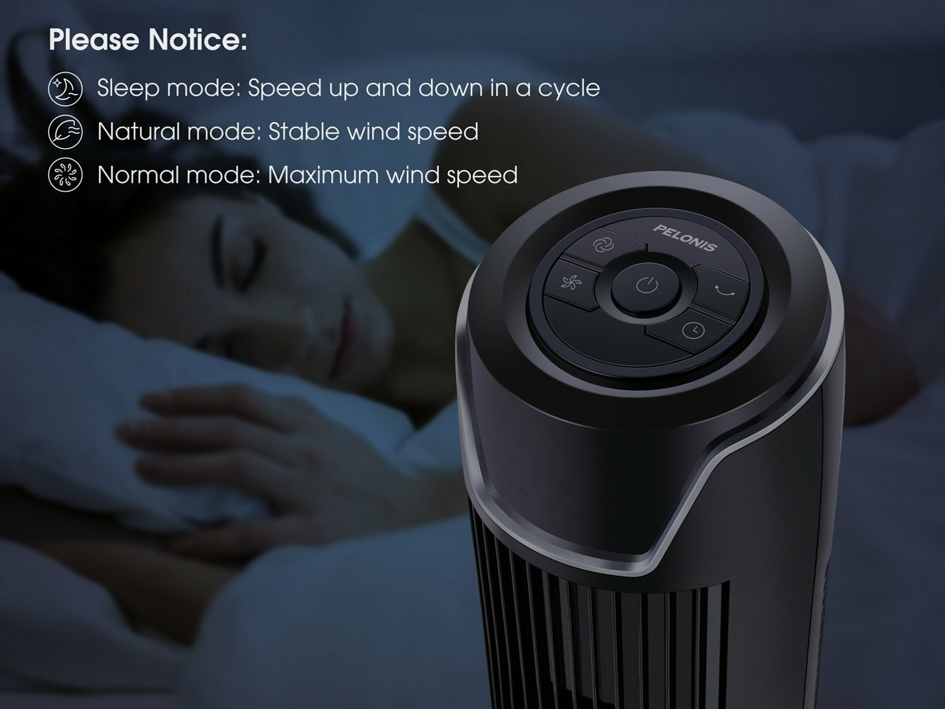 Quiet 3-Speed Whole Tower Fan
