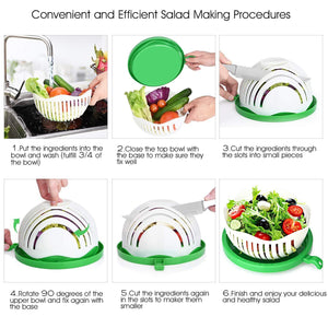Salad Maker Cutter Bowl Easy Speed Quick Chop Vegetable Slicer