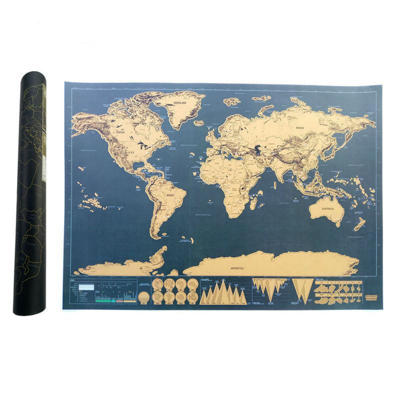 DELUXE WORLD SCRATCH MAP