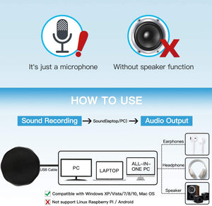Conference USB Microphone for Computer, M1