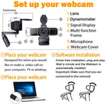 Load image into Gallery viewer, Computer Webcam 1080p with Webcam Cover,LarmTek PC Laptop Camera Built-in Microphone,Widescreen Video Calling and Recording Support for Conference, W3