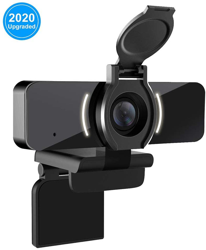 1080P Webcam with Microphone & Privacy Cover, W4