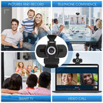 Load image into Gallery viewer, 1080P Full HD Webcam with Webcam Cover, W2