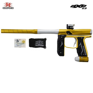 Empire Axe 2.0 Electronic Paintball Gun Marker - Dust Gold / Dust Silver