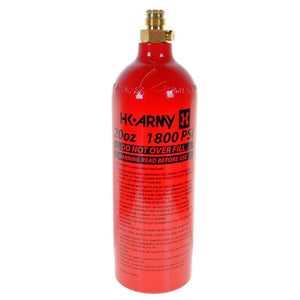 HK Army 20oz Aluminum CO2 Paintball Tank - Red