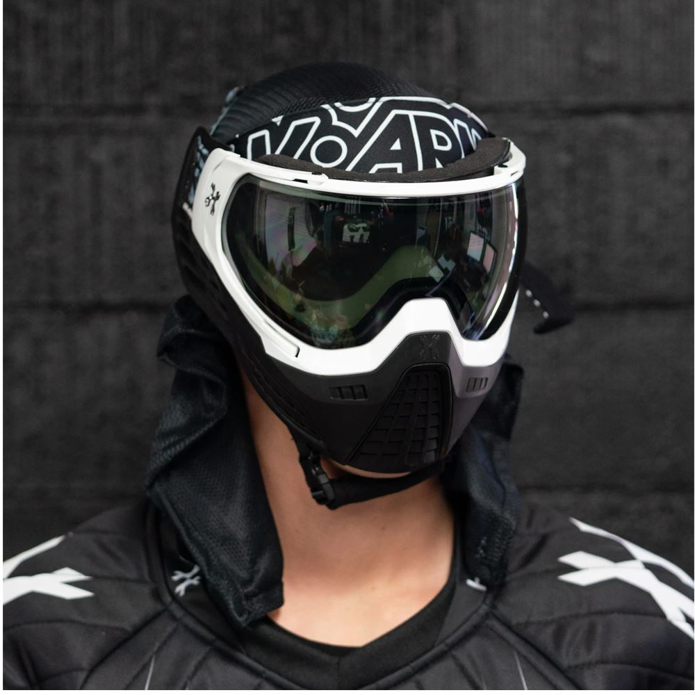 HK Army KLR Thermal Paintball Mask Goggle - Blackout White