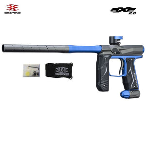 Empire Axe 2.0 Automatic Paintball Gun - Dust Grey / Blue