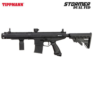 Tippmann Stormer Elite Dual Fed Semi-Automatic .68 Caliber Paintball Gun Marker - Black - 14913
