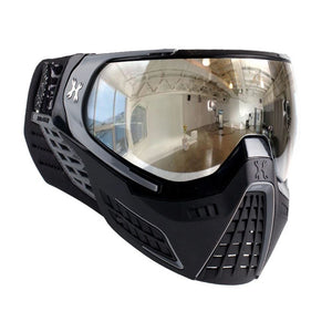 HK Army KLR Thermal Paintball Mask - Platinum Black / Grey-Chrome Lens