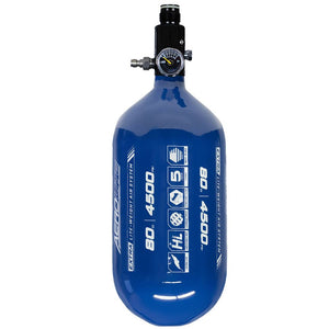 "HK Army Aerolite ""Extra Lite"" 80/4500 Compressed HPA Paintball Tank with Basic Regulator - Blue"