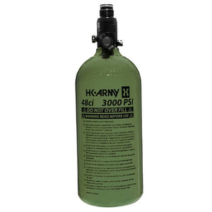 HK Army 48/3000 Aluminum Compressed Air HPA Paintball Tank - Olive
