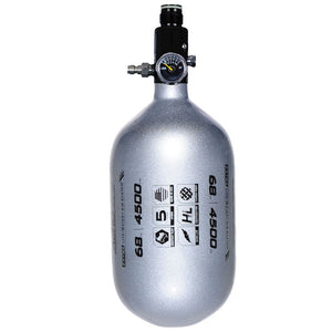 "HK Army Aerolite ""Extra Lite"" 68/4500 Compressed HPA Paintball Tank with Basic Regulator - Silver"