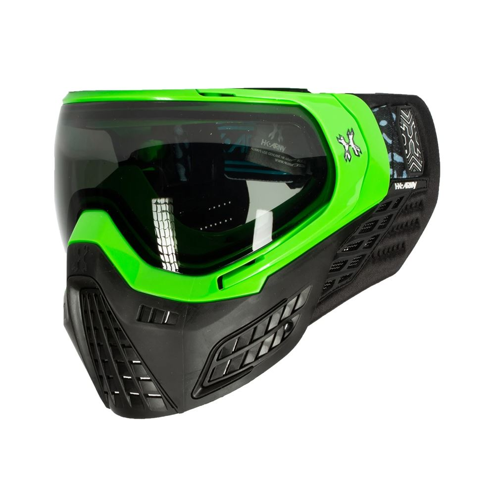 HK Army KLR Thermal Paintball Mask - Blackout Neon Green