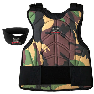 Maddog® Padded Chest Protector with Neck Protector Safety Combo - Black or Camo