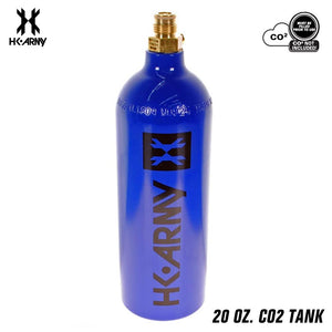 HK Army 20oz Aluminum CO2 Paintball Tank - Blue