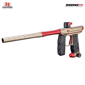 Empire Mini GS Electronic Paintball Gun - Dust Tan / Red 2-pc Barrel