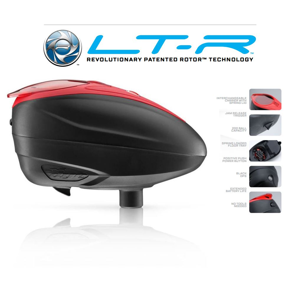 Dye LT-R Paintball Loader - Black / Red