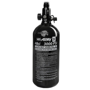 HK Army 48/3000 Aluminum Compressed Air HPA Paintball Tank - Black