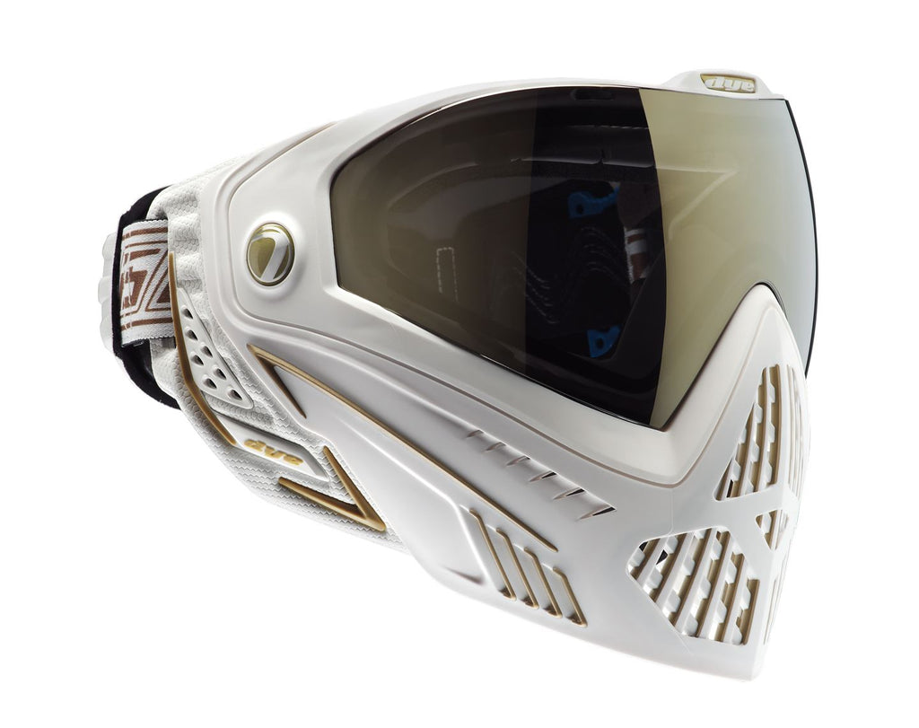 Dye i5 Paintball Goggles - White / Gold