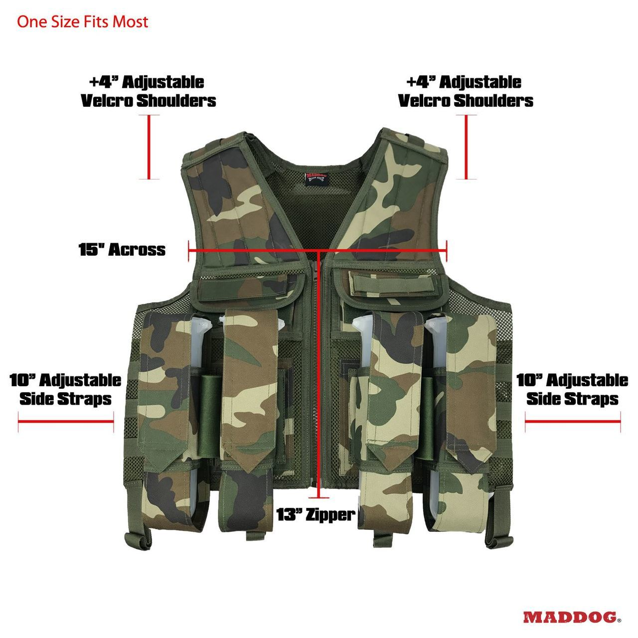 Maddog Battle Paintball Vest Pod and Tank Holder