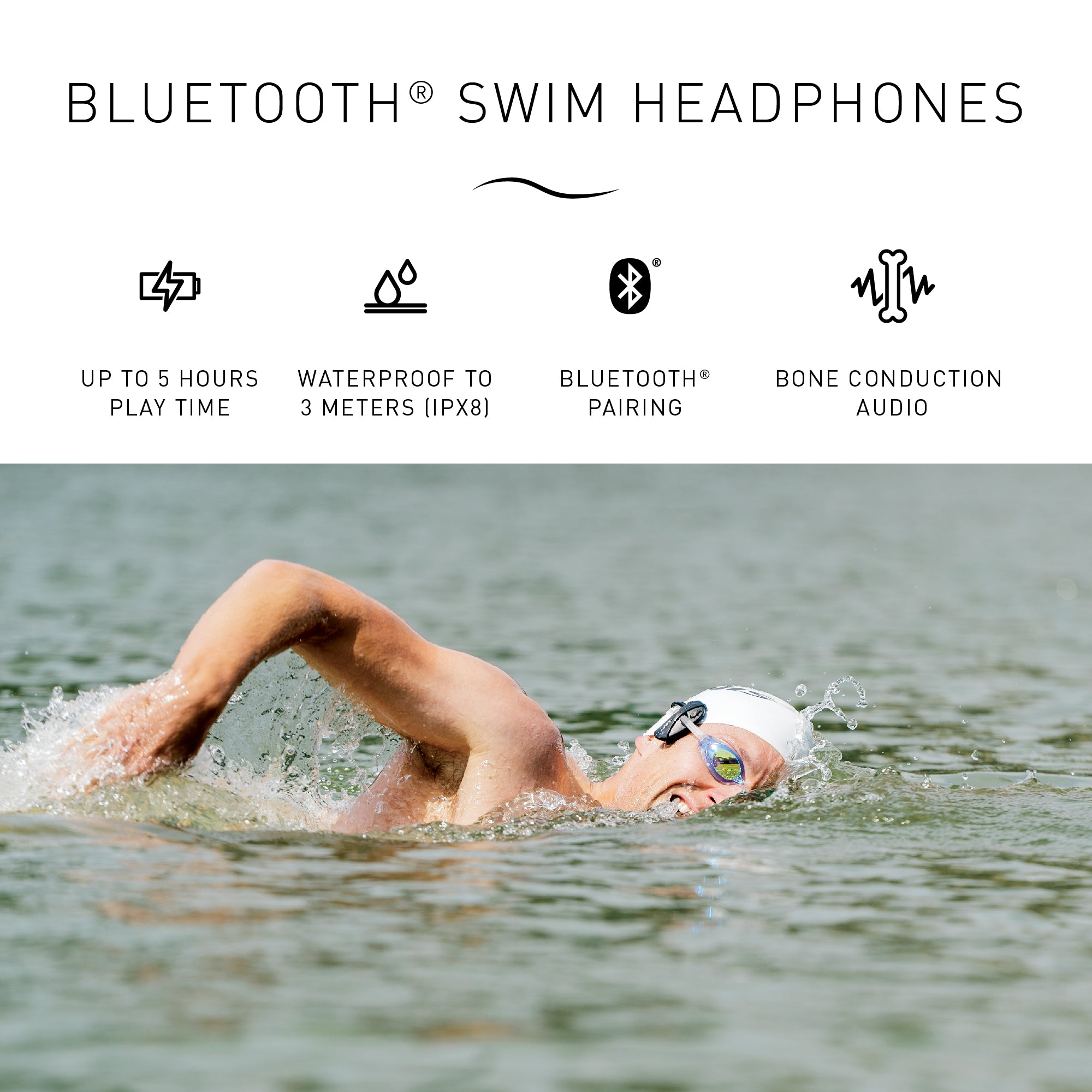Amnis Stream Swim BT Headphones