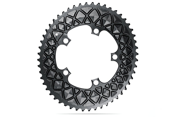 Oval 110BCD 5 holes, 2x chainring FOR SRAM cranks - BLACK | 52T