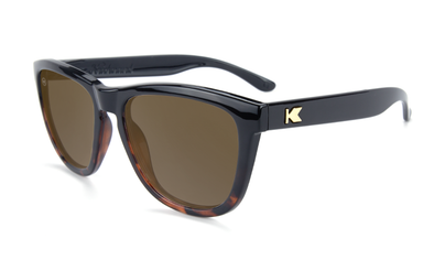 KNOCKAROUND - PREMIUM Glossy Black and Tortoise Shell Fade / Amber POLARIZADO