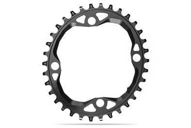 OVAL 104BCD for SH 12spd chain black | 34T