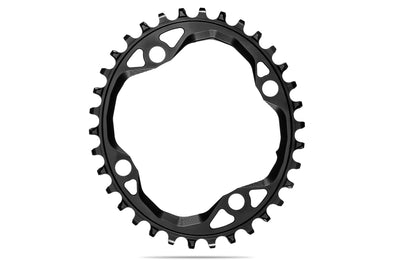 Oval 104BCD chainring N/W -BLACK | 30T (bolts and spacers included)