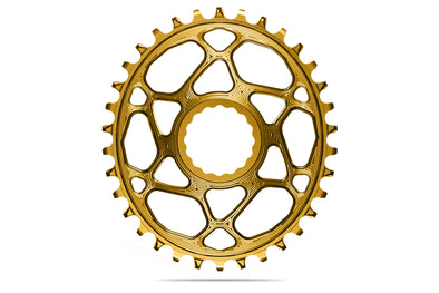 Oval RaceFace Cinch Direct Mount chainring N/W -GOLD (6mm offset) | 30T