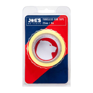 Joes Spare Parts & Accessories, Tubeless Yellow Rim Tape 9 mX 25 mm