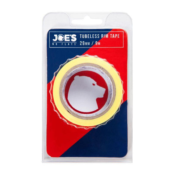 Joes Spare Parts & Accessories, Tubeless Yellow Rim Tape 9 mX 29 mm