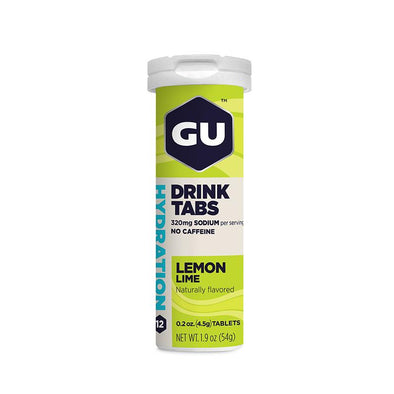 GU Hydration Drink Tabs, Lemon-Lime