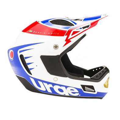 Casco URGE Down O-Matic RR Blan/Roj/Azul