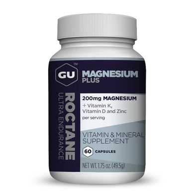 GU Roctane Magnesium Capsules , 60ct Bottle