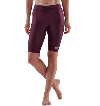 Skins Series-3 Calza Women's Half Tights Burgundy