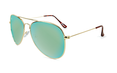 KNOCKAROUND - MILE HIGHS Gold / Aqua - POLARIZADO