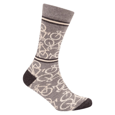 Bicycle Socks Mid Grey