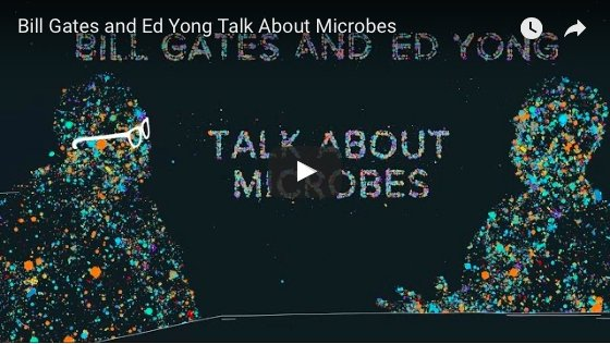 Bill Gates and Ed Yong Talk About Microbes