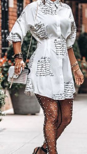 The Graphic Shirt Dress