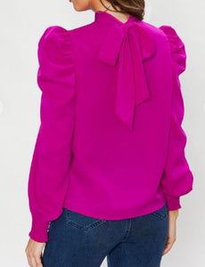 High Collar Neck Blouse