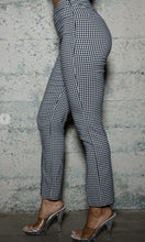 Load image into Gallery viewer, Fitted Checker Slit Pant