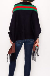 The Fringe Sweater Shawl