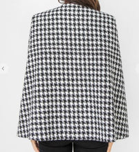 Load image into Gallery viewer, Houndstooth Cape Jacket