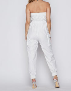 Zipper Color Block Jumpsuit