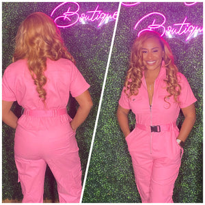 Belted Cargo Jumpsuit